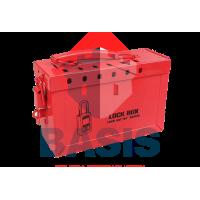 Переносной Lock-бокс из металла, красный