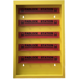 LOTO-станция из металла на 100 замков, желтая