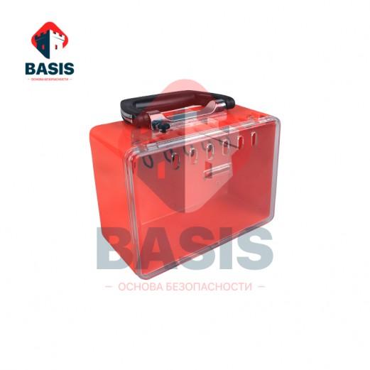 Переносной Lock-бокс из инженерного ABS пластика, красный