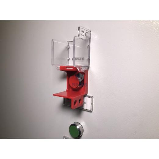 Блокиратор аварийной кнопки стационарный, высота 50 мм, ширина 47,3 мм, посадочный диаметр 20/30 мм
