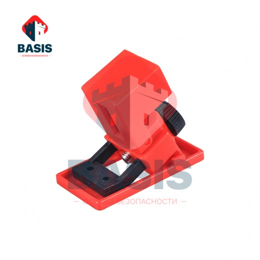 Блокиратор флажковых автоматов, малый размер. Блокирующий проём 10 мм - 16 мм