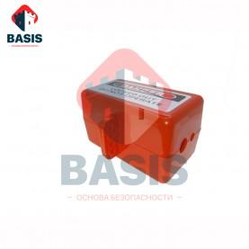 Блокиратор разъемов 380В и быстросъемных пневмомагистралей (высота 97 мм / ширина 95 мм / длина 170 мм, провод от 9,5 до 18,2 мм)