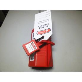 Блокиратор штекеров 220-380В, (высота 83 мм / ширина 83 мм / длина 178 мм, провод до 25 мм)