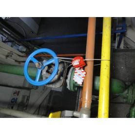Тросовый блокиратор. Стальной трос 6 мм в прозрачной PVC оплетке, длина 1.8 м