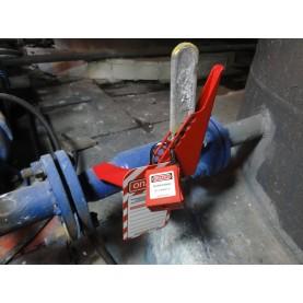 Блокиратор запорной арматуры/шарового крана (диам. трубы 38,1 мм — 76,2 мм), сталь